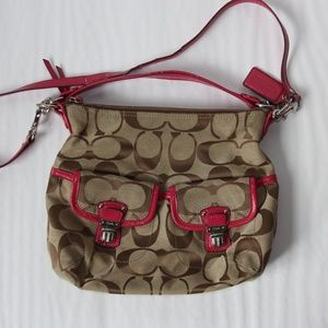 Coach Large Pink and Brown Purse